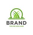 grass logo design vector image vector image