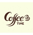 Hand written lettering with phrase Coffee Time vector image