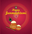happy jamasthami vector image vector image