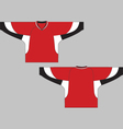 Hockey jersey template vector image vector image