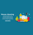 house cleaning banner horizontal concept vector image