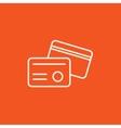 Identification card line icon vector image