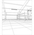 industrial building constructions indoor tracing vector image vector image