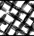 ink hand drawn abstract cross lines seamless vector image vector image