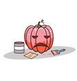 Isolated cartoon pink pumpkin for valentine vector image vector image