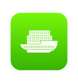 large passenger ship icon digital green vector image vector image