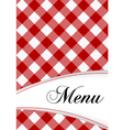 menu card design vector image
