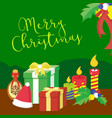 merry christmas gifts graphic vector image