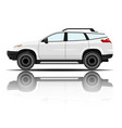 modern car white color white background ima vector image vector image