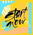 motivational lettering positive message vector image