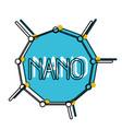 nano molecular structure watercolor silhouette vector image vector image