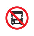 no truck allowed sign vector image vector image