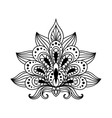 Ornate persian paisley floral element vector image vector image