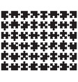 parts black puzzle vector image vector image