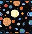pattern planets solar syste vector image