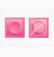 realistic 3d detailed condoms package vector image
