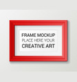 realistic rectangular red frame template frame on vector image vector image