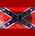 rebel civil war flag with oklahoma map vector image vector image