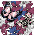 seamless wallpaper pattern with hand drawn flowers vector image