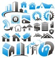 set house icons symbols and signs vector image vector image