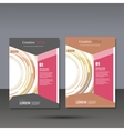 Set template for brochure poster application and vector image vector image