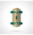 Skateboard flat color design icon vector image