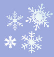 snowflake greeting card vector image