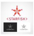 starfish symbol vector image vector image
