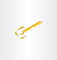 stylized key icon design vector image vector image
