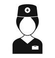 surgeon nurse icon simple style vector image vector image