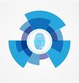 technology of scanning a fingerprint vector image vector image