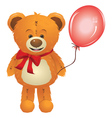 Teddy Bear with Red Bow3 vector image vector image