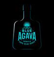 tequila emblem blue agave label logo vintage vector image vector image
