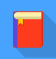 thick book icon flat style vector image vector image