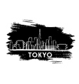 Tokyo Skyline Silhouette Hand Drawn Sketch vector image vector image