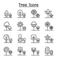 tree plant forest park icon set in thin line style vector image vector image