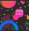 trendy geometric shapes memphis hipster background vector image