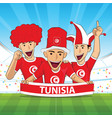 tunisia football support vector image vector image