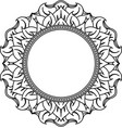 unusual hexagonal lace frame decorative element vector image vector image