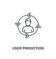 user prediction outline icon thin line style from vector image vector image