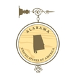 Vintage label Alabama vector image vector image