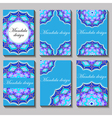 vintage visiting card set Floral mandala pattern vector image vector image
