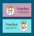voucher on 50 -75 set of posters gold tags label vector image