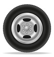 wheel for car 02 vector image vector image