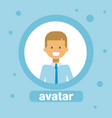 young man avatar businessman profile icon user vector image vector image
