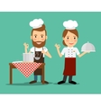 Culinary chefs vector image