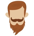 hipster hairstyle with mustache vector image