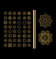 decorative ornate snowflake vector image