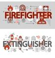 Fire Department Line Banner Set vector image