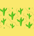 seamless cacti in desert pattern cactus texture vector image